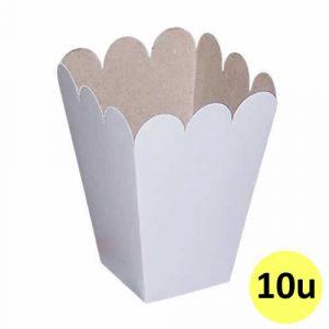 Caja para pochoclos de cartón sublimable