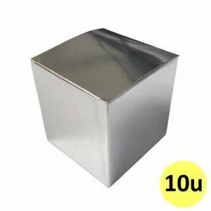 Caja plateada de cartón sublimable para taza