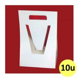 Porta chop triángulo de cartón para sublimar