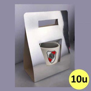Porta taza triángulo plateado de cartón para sublimar