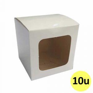 Caja de cartón sublimable para taza con ventana