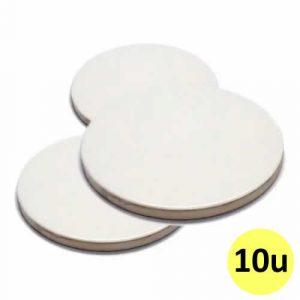 Posa vasos circular de goma y tela para sublimar