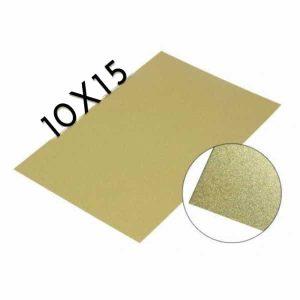 Chapa importada aluminio sublimable dorada 10x15